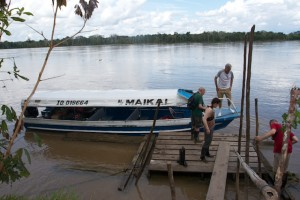 The speed boat that took us  down the Amazon River and into the jungle!