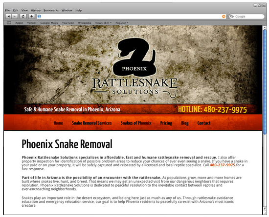 Phoenix Rattlesnake Solutions Website